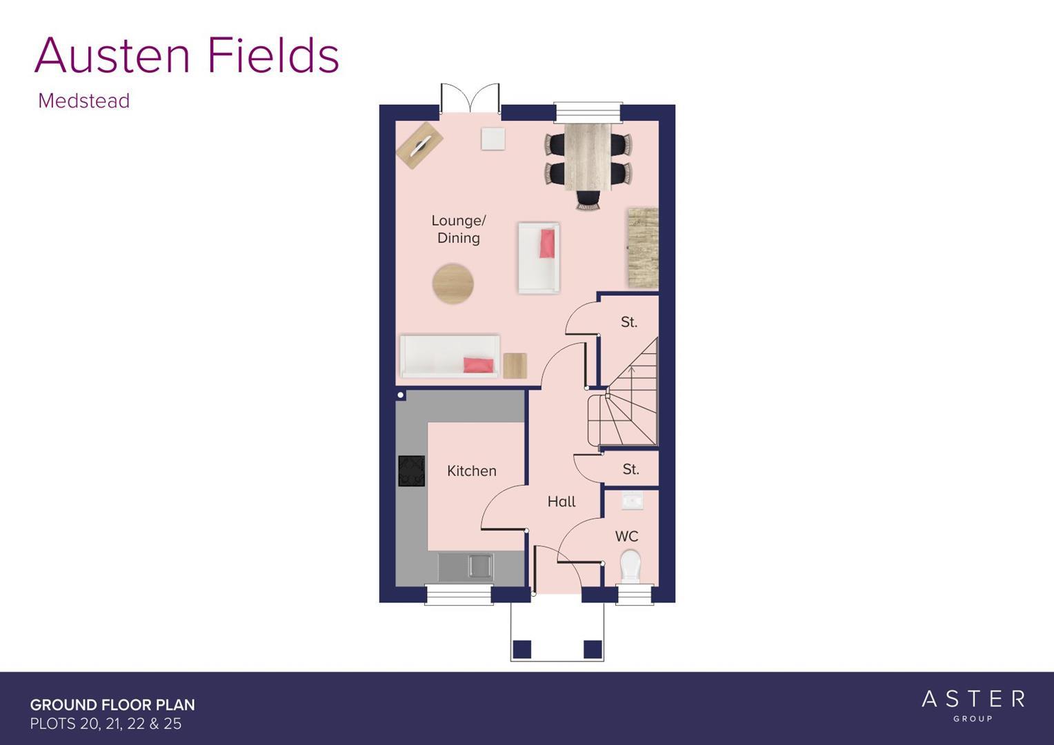 Austen Fields, Medstead_Plots 20, 21, 22 & 25_GF_F